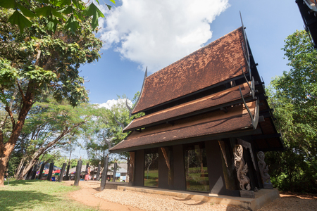 Old wooden building (Lanna style) at Chiangrai Thailand.