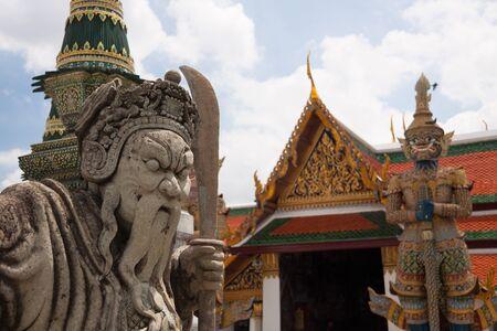 Wat Phra Kaew, Temple of the Emerald Buddha Wat Phra Kaew is one of Bangkok's most famous tourist sites at Bangkok, Thailand