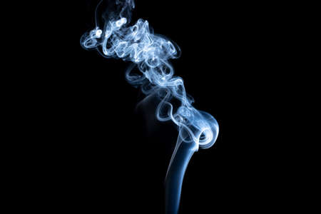 Abstract Smoke on black Background 写真素材