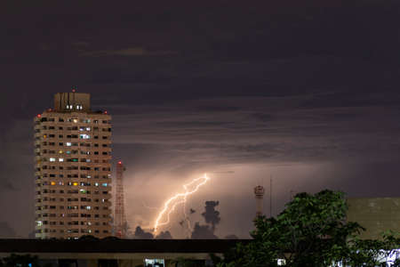 Lightning hits the house in Bangkok , Thailand