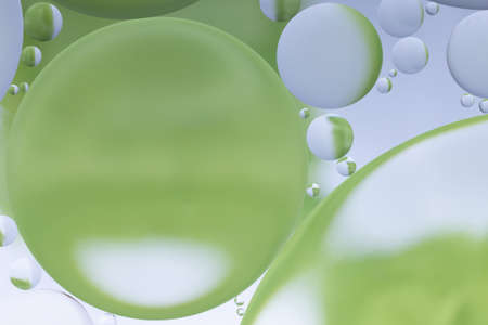 Oil and water abstract in white and green
