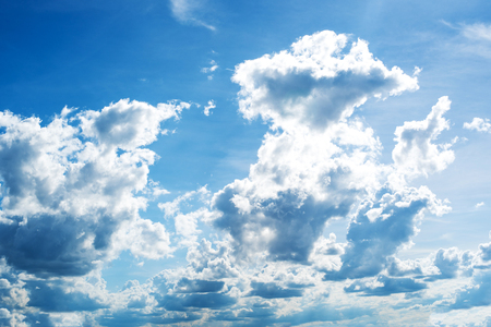 blue sky with cloud on day time Stock Photo