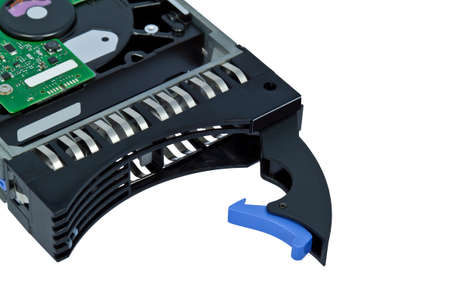 server hard disk, drive isolated over white background  photo