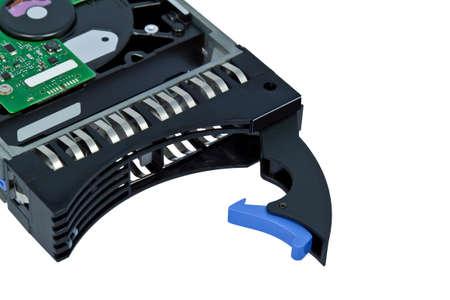 terabyte: server hard disk, drive isolated over white background  Stock Photo