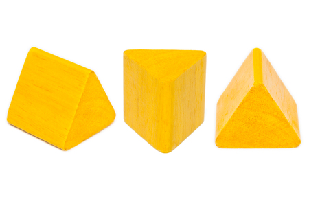 back to school supplies: yellow  Wooden Shapes