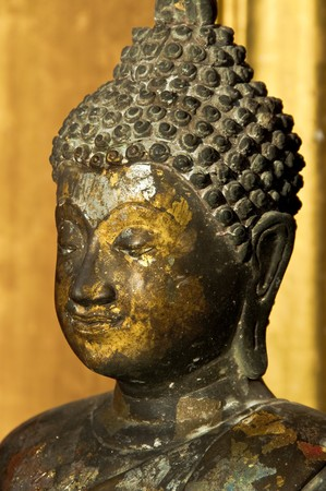This is a statue of Buddha at the Marble temple, Bangkok, Thailand. Stock Photo