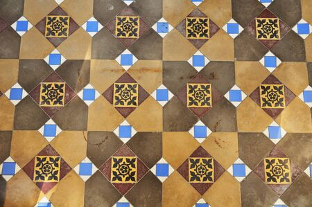A walkway made of beautiful tiles in a Palace, Thailand. Stock Photo - 7110815