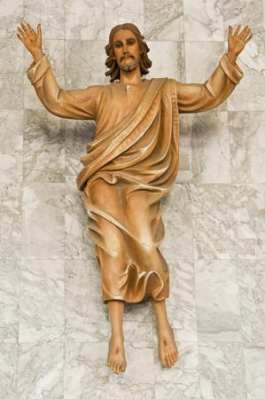 This is a statue of Jesus christ in a church,Thailand. photo