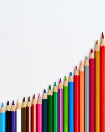 color pencils isolation photo