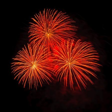 Fireworks at Pattaya beach, Thailand photo