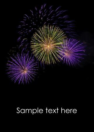 Fireworks at Pattaya beach, Thailand Stock Photo