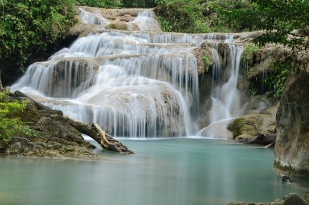 Erawan Waterfall level 2, Kanchanaburi province, Thailand photo