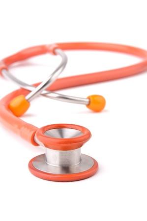 Stethoscope isolated over white background Stock Photo - 9236784