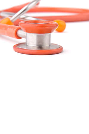 Stethoscope isolated over white background Stock Photo - 9236781