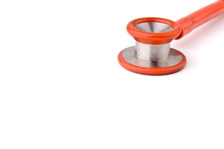Stethoscope isolated over white background Stock Photo - 9236775