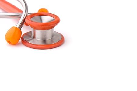 Stethoscope isolated over white background Stock Photo - 9236778