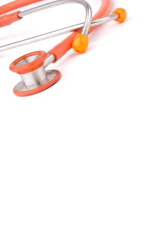 Stethoscope isolated over white background
