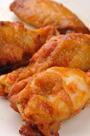 alitas de pollo: Tiro de macro de alas de pollo picante