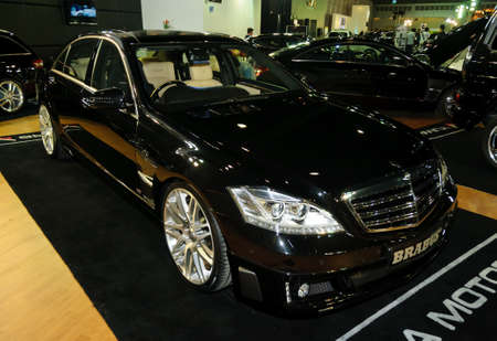 NONTABURI,THAILAND-MAY 21: Mercedes-Benz on display at the Super Car & Import Car Show on May 21,2011 in Nontaburi, Thailand.