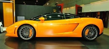NONTABURI,THAILAND-MAY 21: Lamborghini Gallardo LP560-2 on display at the Super Car & Import Car Show on May 21,2011 in Nontaburi, Thailand. Stock Photo - 9577188