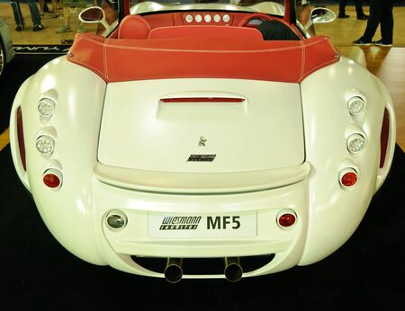 NONTABURI,THAILAND-MAY 21: Wiesmann Roadster MF5 on display at the Super Car & Import Car Show on May 21,2011 in Nontaburi, Thailand.