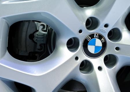 BANGKOK - SEPTEMBER 25: a BMW's wheel on display at BMW XPO 2011 on September 25, 2011 at Siam Paragon in Bangkok.