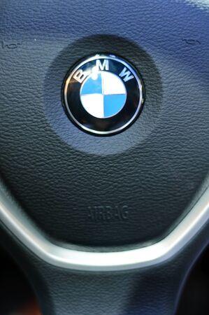 BANGKOK - SEPTEMBER 25: Steering wheel of BMW on display at BMW XPO 2011 on September 25, 2011 at Siam Paragon in Bangkok.