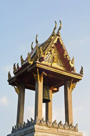 bell tower: Bovornvong Bell Tower in the Marble Temple or Wat Benchamabopitr, Bangkok.