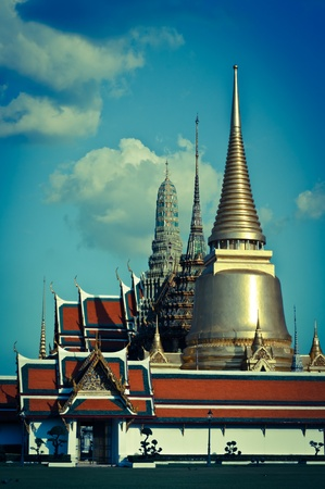 Thai temple in Grand Palace, Bangkok, Thailand.