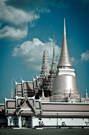 Thai temple in Grand Palace, Bangkok, Thailand.