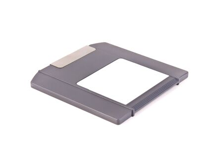 rewrite: zip drive disk isolated on white. Stock Photo