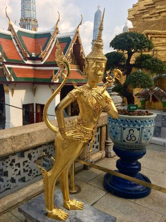 angel statue: Thai angel statue at the temple of emerald Buddha in Bangkok