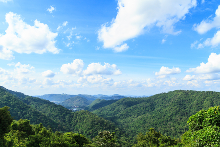 national plant: Mountain at Khao Yai national park, Thailand. Stock Photo