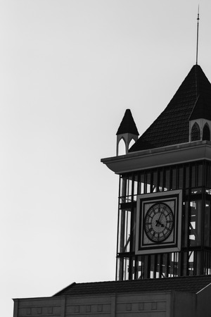 clock tower: Clock tower in Black&White