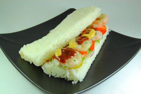 Riz sandwich Banque d'images