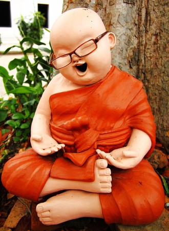 Thai monk statue Stock Photo