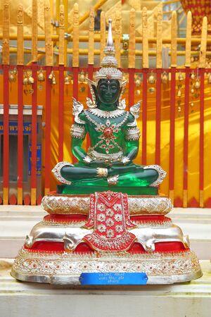 Emerald Buddha statue Stock Photo