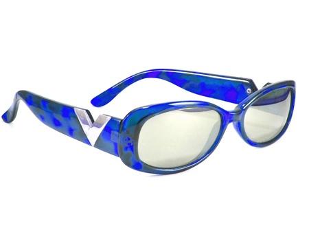 Blue sunglasses isolated  Stock Photo