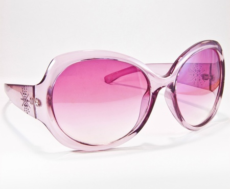 Pink sunglasses isolated