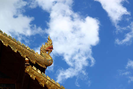 Thai dragon squirt cloud Stock Photo - 8923901