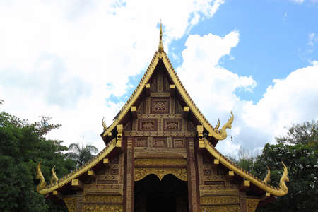 Thai temple in Chiangmai north Thaiand  Stock Photo