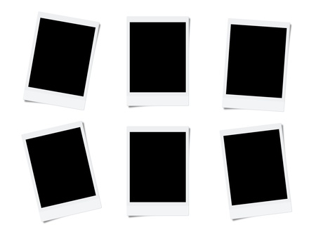 picture card: Blank photo frames isolated on white background  Stock Photo