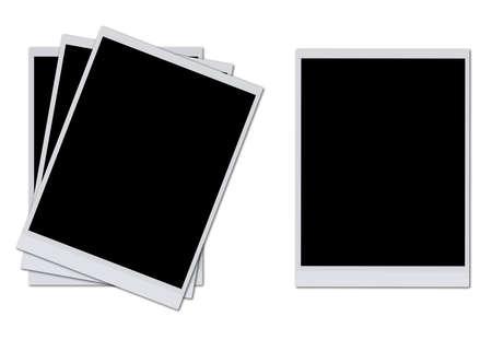 Blank photo frames isolated on white background  Stock Photo