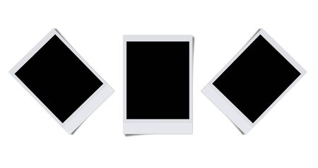 Blank photo frames isolated on white background  Stock Photo