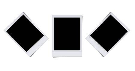 Cadres photo blanc isol�es sur fond blanc  Banque d'images