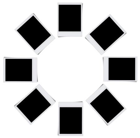 Cadres de photo blanc isol�es sur fond blanc