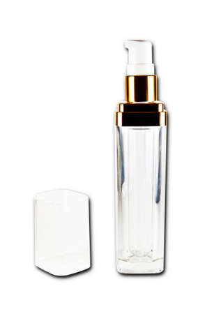 cosmetic bottles isolated on the white background