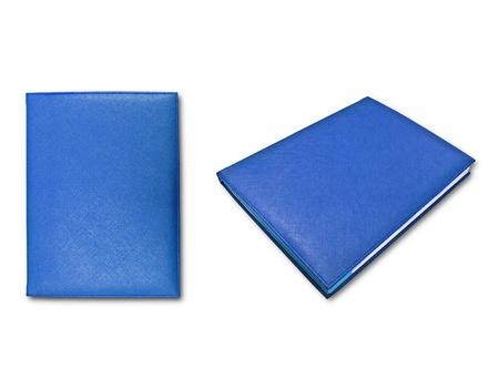 blue books isolated on white background  photo