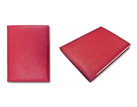 red books isolated on white background  photo