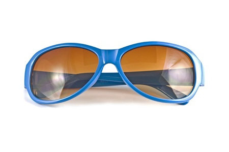 Blue sunglasses isolated on white  background Stock Photo - 10026199